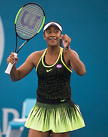 DESTANEE AIAVA (AUS)<br /> <br /> BRISBANE INTERNATIONAL, PAT RAFTER ARENA, BRISBANE TENNIS CENTRE, BRISBANE, QUEENSLAND, AUSTRALIA, ATP, WTA, Hard Court, Outside, Men's tennis, Women's tennis, Men's singles, women's singles, men's doubles, women's doubles.<br /> <br /> &copy; TENNIS PHOTO NETWORK