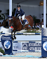 www.acepixs.com<br /> <br /> April 15 2017, Miami<br /> <br /> Jennifer Gates competes at the Longines Global Champions Tour stop in Miami Beach - Global Champions League Final  on April 15, 2017 in Miami Beach, Florida.<br /> <br /> By Line: Solar/ACE Pictures<br /> <br /> ACE Pictures Inc<br /> Tel: 6467670430<br /> Email: info@acepixs.com<br /> www.acepixs.com