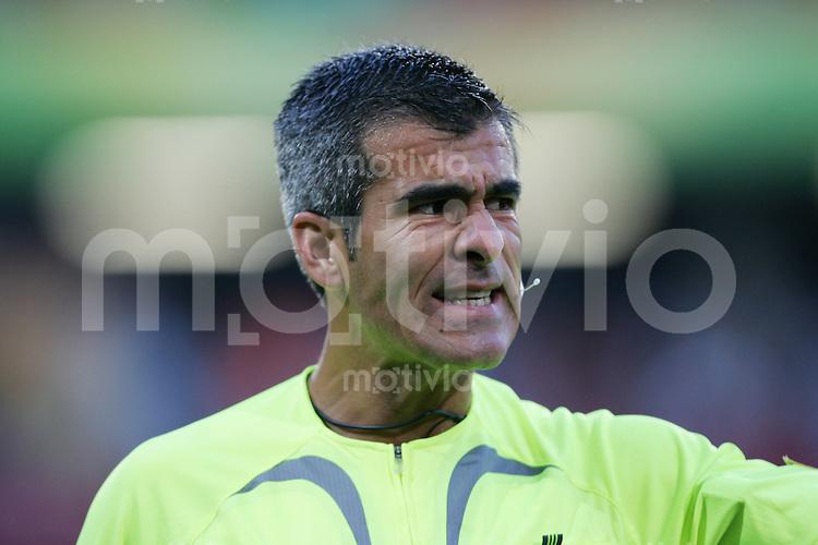 Fussball WM 2006        Schweiz - Sued Korea Horacio ELIZONDO (ARG) zeigt Emotionen.