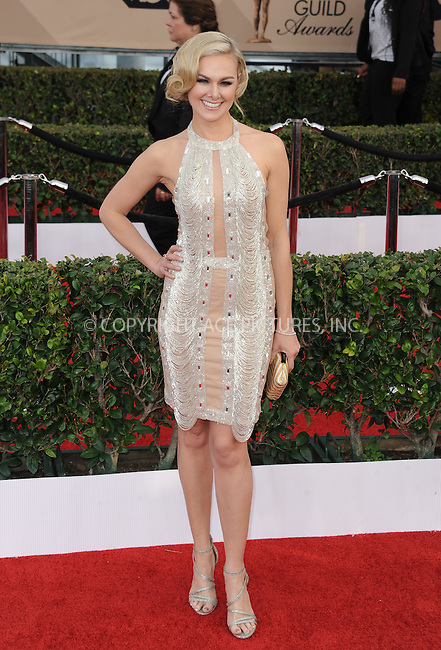 WWW.ACEPIXS.COM<br /> <br /> January 30 2016, LA<br /> <br /> Laura Bell Bundy arriving at the 22nd Annual Screen Actors Guild Awards at the Shrine Auditorium on January 30, 2016 in Los Angeles, California<br /> <br /> By Line: Peter West/ACE Pictures<br /> <br /> <br /> ACE Pictures, Inc.<br /> tel: 646 769 0430<br /> Email: info@acepixs.com<br /> www.acepixs.com