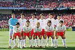 11 February 2006: Korea's starting eleven. The Costa Rica Men's National Team defeated South Korea 1-0 at McAfee Coliseum in Oakland, California in an International Friendly soccer match.