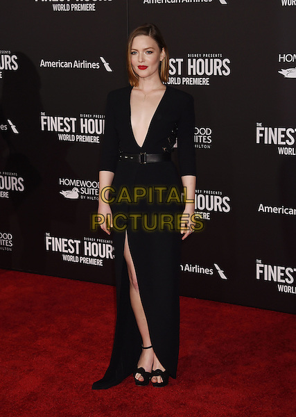 HOLLYWOOD, CA - JANUARY 25: Actress Holliday Grainger arrives at the Premiere Of Disney's 'The Finest Hours' at TCL Chinese Theatre on January 25, 2016 in Hollywood, California.