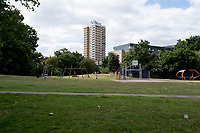 Cossall Park. Peckham. Walk from Telegraph Hill to Burgess Park, South East London,England, UK