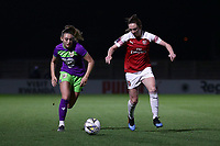 Lisa Evans of Arsenal and Ella Rutherford of Bristol during Arsenal Women vs Bristol City Women, FA Women's Super League Football at Meadow Park on 14th March 2019