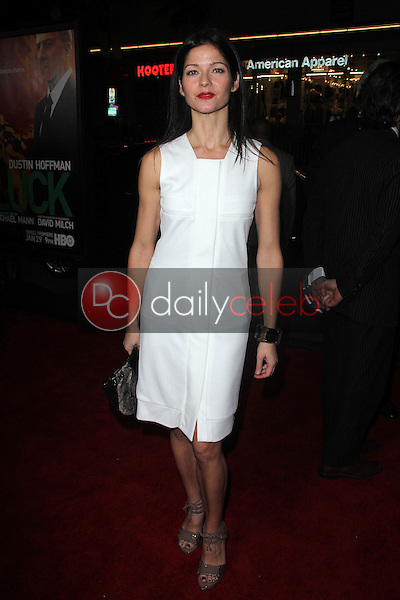 """Jill Hennessy<br /> at the premiere of HBO's """"LUCK,"""" Chinese Theater, Hollywood, CA 01-25-12<br /> David Edwards/DailyCeleb.com 818-249-4998"""