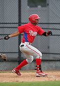 March 25, 2010:  Jonathan Villar (82) of the Philadelphia Phillies organization during a Spring Training game at the Carpenter Complex in Clearwater, FL.  Photo By Mike Janes/Four Seam Images