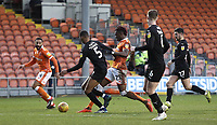 Barnsley's Ethan Pinnock vies for possession with Blackpool's Armand Gnanduillet<br /> <br /> Photographer Rich Linley/CameraSport<br /> <br /> The EFL Sky Bet League One - Blackpool v Barnsley - Saturday 22nd December 2018 - Bloomfield Road - Blackpool<br /> <br /> World Copyright &copy; 2018 CameraSport. All rights reserved. 43 Linden Ave. Countesthorpe. Leicester. England. LE8 5PG - Tel: +44 (0) 116 277 4147 - admin@camerasport.com - www.camerasport.com
