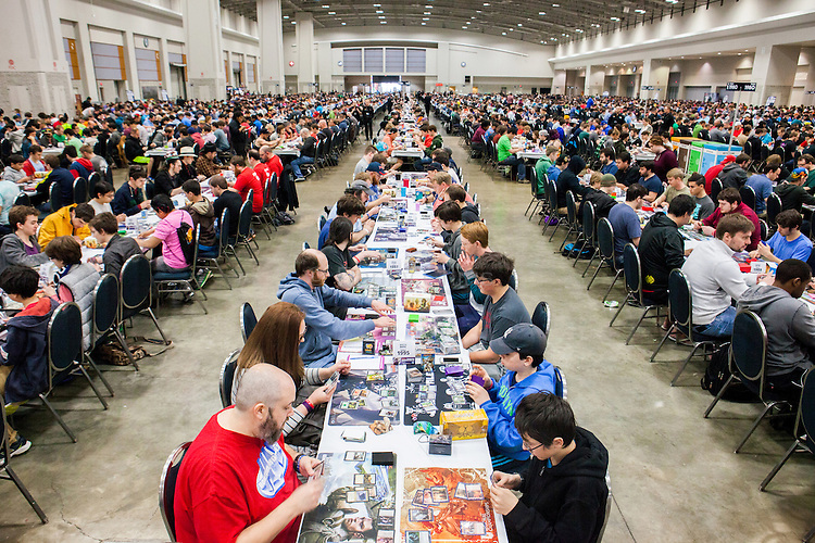 Close to 4,000 people attended a Grand Prix tournament of Magic: The Gathering at the Walter E. Washington Convention Center in Washington DC over the weekend of March 12-13. Every year the company runs more than 50 Grand Prix events worldwide. <br /> <br /> <br /> Danny Ghitis for Bloomberg Businessweek