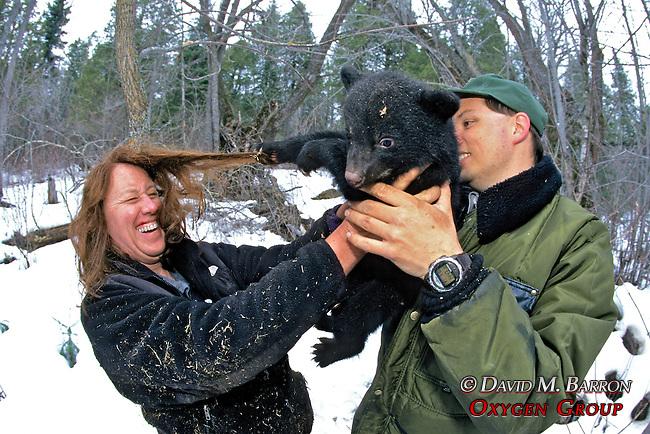 Kris & Rene With Bear Cub