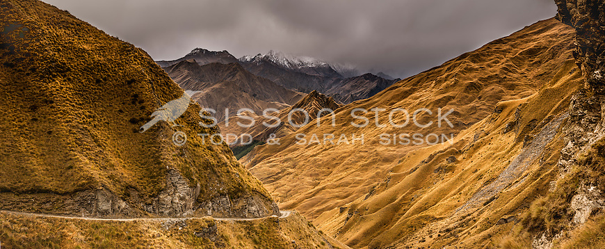 Skippers Canyon, South Island, New Zealand - stock photo, canvas, fine art print