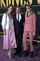 """LOS ANGELES - NOV 14:  Kelley Phleger, Don Johnson, Grace Johnson at the """"Knives Out"""" Premiere at Village Theater on November 14, 2019 in Westwood, CA"""