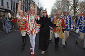 Düsseldorf, Germany. 15 February 2015. Prince Christian and Princess Venetia Claudia. Street carnival celebrations take place on Königsallee (Kö) in Düsseldorf ahead of the traditional Shrove Monday parade (Rosenmontagszug).