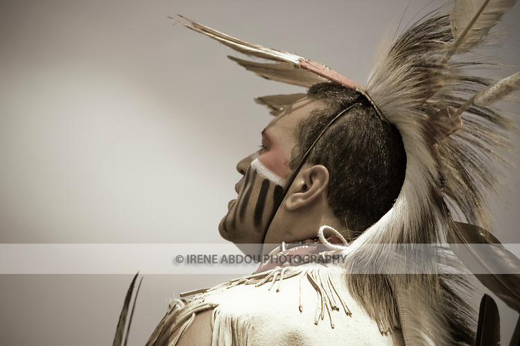 Native American in traditional regalia at the 8th Annual Red Wing PowWow in Virginia Beach, Virginia