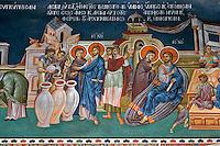 Monastery of St. Anastassia the Farmakolytria,built in 1522,by St. Theonas,nartex,wall-paintings,Moni,near Thessaloniki,Chalkidiki,Greece