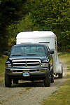 Dodge Pickup towing trailer in Crescent City California