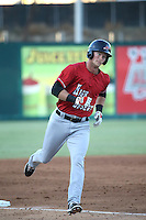 Tripp Martin (10) of the High Desert Mavericks runs the bases during a game against the Lake Elsinore Storm at The Diamond on April 27, 2016 in Lake Elsinore, California. High Desert defeated Lake Elsinore, 10-2. (Larry Goren/Four Seam Images)