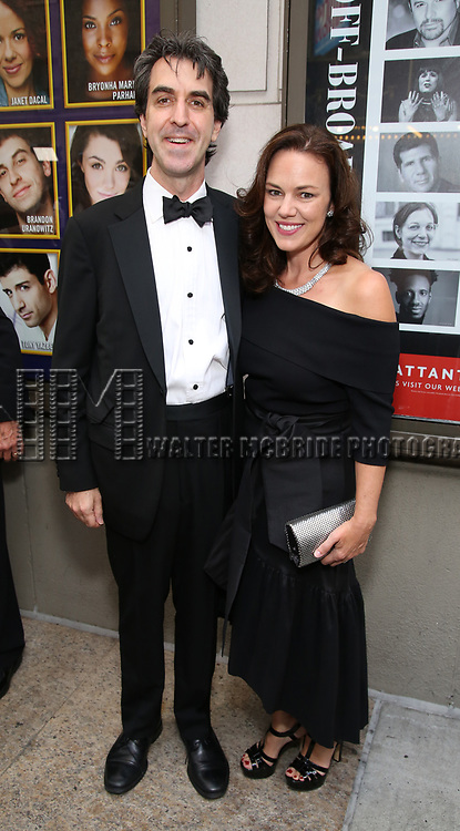 Jason Robert Brown and Georgia Stitt attends the Broadway Opening Night performance of 'The Prince of Broadway' at the Samuel J. Friedman Theatre on August 24, 2017 in New York City.