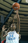 05 December 2012: North Carolina's Xylina McDaniel (34). The University of North Carolina Tar Heels played the Radford University Highlanders at Carmichael Arena in Chapel Hill, North Carolina in an NCAA Division I Women's Basketball game. UNC won the game 64-44.