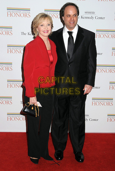FLORENCE HENDERSON & JOSEPH BERNSTEIN .Gala Dinner honoring the 32nd Kennedy Center Honors held at the State Department, Washington DC, USA, .5th December 2009..full length jacket black tie suit red trousers .CAP/ADM/LF.©Laura Farr/Admedia/Capital Pictures