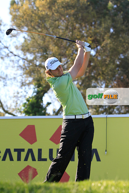 Peter Uihlein (USA) on the 13th tee during Thursday's Round 1 of The Open De Espana at The PGA Catalunya Resort. 15th May 2014.<br /> Picture:  Thos Caffrey / www.golffile.ie