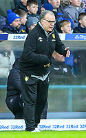 Leeds United manager Marcelo Bielsa shouts instructions to his team from the technical area<br /> <br /> Photographer Alex Dodd/CameraSport<br /> <br /> The EFL Sky Bet Championship - Leeds United v Hull City - Saturday 29th December 2018 - Elland Road - Leeds<br /> <br /> World Copyright © 2018 CameraSport. All rights reserved. 43 Linden Ave. Countesthorpe. Leicester. England. LE8 5PG - Tel: +44 (0) 116 277 4147 - admin@camerasport.com - www.camerasport.com