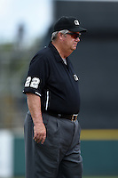 Umpire Joe West during a Spring Training game between the New York Yankees and Philadelphia Phillies on March 25, 2015 at Bright House Field in Clearwater, Florida.  New York defeated Philadelphia 10-0.  (Mike Janes/Four Seam Images)