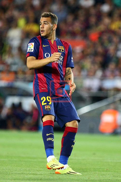 49e Trofeu Joan Gamper.<br /> FC Barcelona vs Club Leon FC: 6-0.<br /> Sandro.