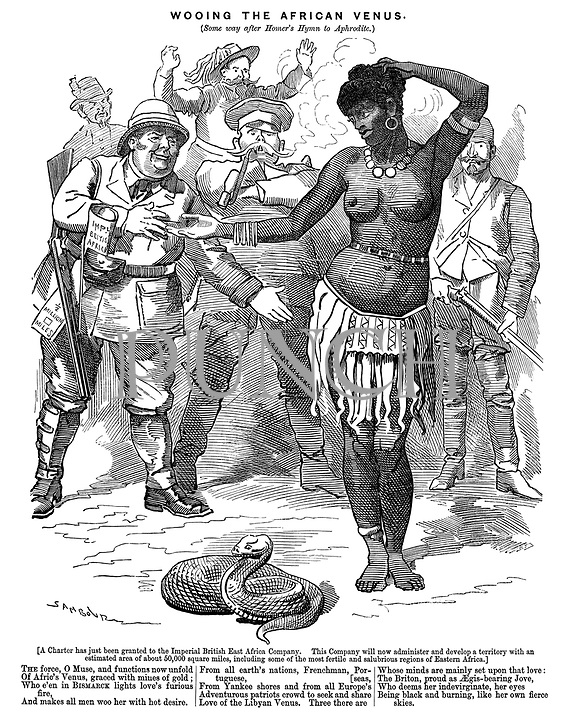 Cartoons about africa colonialism imperialism from punchcartoons wooing the african venus some way after homers hymn to aphrodite publicscrutiny Image collections