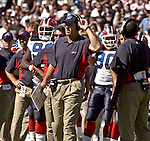 Bills head coach Mike Mularkey on Sunday, September 19, 2004, in Oakland, California. The Raiders defeated the Bills 13-10.