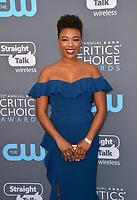Samira Wiley at the 23rd Annual Critics' Choice Awards at Barker Hangar, Santa Monica, USA 11 Jan. 2018<br /> Picture: Paul Smith/Featureflash/SilverHub 0208 004 5359 sales@silverhubmedia.com