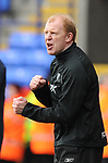 Gary Megson Bolton manager shows some fighting spirit during the Premier League match at the Reebok Stadium, Bolton. Picture date 12th April 2008. Picture credit should read: Simon Bellis/Sportimage