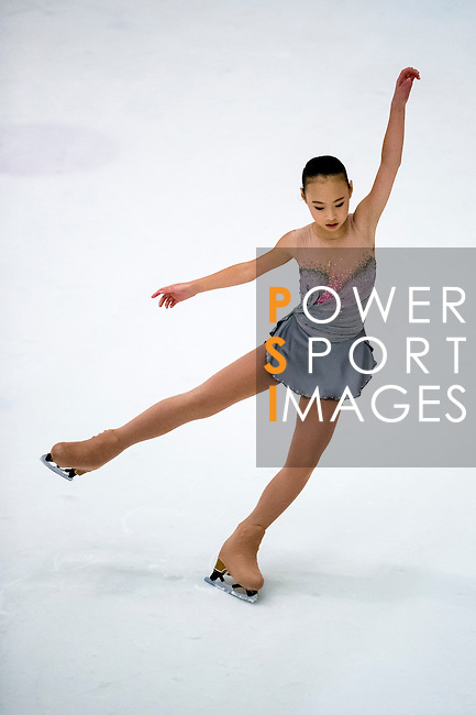 Yi Ning Feng competes during the Asian Junior Figure Skating Challenge 2015 on October 07, 2015 at the Festival Walk Mall in Hong Kong, China. Photo by Aitor Alcalde/ Power Sport Images