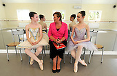 Fiona Hyslop - Cabinet Secretary for Culture and External Affairs - announced a three year world-class clebration of Scottish Culture and Creativity to take advantage of the opportunities offered by London 2012 Olympic and Glasgow 2014 Commonwealth Games. Ms Hyslop made the announcement of the Year of Creative Scotland 2012 on a visit to Ballet West at Taynuilt (near Oban) where she met dancers Natasha Watson (15) from Falkirk (wearing purple Tutu) and Isabella Sweilicki (14) from North Connell - further information from Catherine Brown - Scottish Governement Media - 0131 244 2547 or catherine.brown@scotland.gsi.gov.uk - Picture by Donald MacLeod - 27.07.11 - 07702 319 738 - www.donald-macleod.com