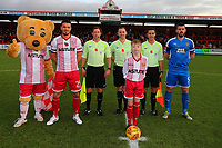 Pre-match line up during Stevenage vs Notts County, Sky Bet EFL League 2 Football at the Lamex Stadium on 11th November 2017