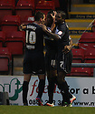 Lucas Akins of Stevenage (c) is congratulated after scoring their first goal. Crewe Alexandra v Stevenage - npower League 1 - The Alexandra Stadium, Gresty Road, Crewe - 5th January, 2013. © Kevin Coleman 2013.