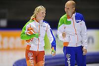 SCHAATSEN: HEERENVEEN: 27-09-2014, IJsstadion Thialf, Trainingswedstrijd, ©foto Martin de Jong