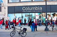 Columbia College Part-Time Teachers Strike Chicago Illinois  11-30-17