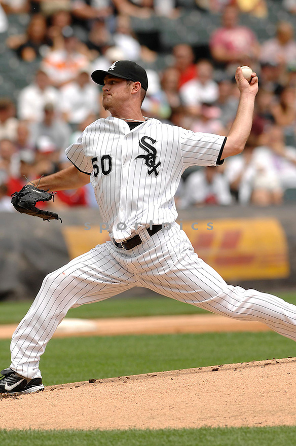 JOHN DANKS, of the Chicago White Sox, in action during the White Sox game against the Detroit Tigers  in Chicago, IL on July 26, 2007...White Sox win 4-3..DAVID DUROCHIK / SPORTPICS...