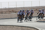 Bridgestone Anchor team warms up before the 2nd Stage of the 2012 Tour of Qatar a team time trial at Lusail Circuit, Doha, Qatar, 6th February 2012 (Photo Eoin Clarke/Newsfile)