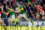 Mark Griffin Kerry in action against Sean Kiely Cork in the National Football league in Austin Stack Park, Tralee on Sunday.
