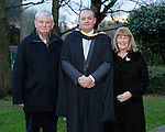 REPRO FREE<br /> 21/01/2015<br /> James Walsh, Birdhill, Co. Tipperary, Masters in Law pictured with his Parents Seamus and Joan Walsh, Old Cork Road, Limerick as the University of Limerick continues three days of Winter conferring ceremonies which will see 1831 students conferring, including 74 PhDs. <br /> UL President, Professor Don Barry highlighted the increasing growth in demand for UL graduates by employers and the institution&rsquo;s position as Sunday Times University of the Year. <br /> Picture: Don Moloney / Press 22