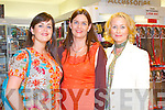 MAKE-UP: Attending the Lancome open night at CH Chemists, Tralee on Thursday l-r: Carol Anne O'Donoghue, Madeline McCarthy and Orlaith Griffin.