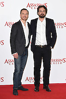 "Michael Fassbender and director, Justin Kurzel<br /> at the ""Assassin's Creed"" photocall in Claridges Hotel London.<br /> <br /> <br /> ©Ash Knotek  D3211  08/12/2016"