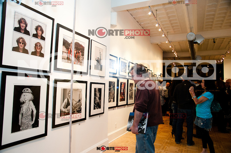 """View of the Bob Gruen """"Rock Seen"""" photo exhibition at Art629 in New York City. May 4, 2012. ©Kristen Driscoll/MediaPunch Inc."""
