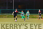 Danny Roche Killarney Celtic competes for ball against Janesboro during their Munster Champions Cup tie in Celtic Park on Saturday night