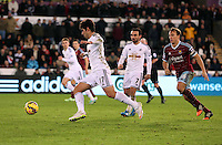 Pictured: Nelson Oliveira (L), the new signing for Swansea Saturday 10 January 2015<br />