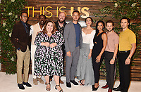 "WEST HOLLYWOOD, CA - AUGUST 10: (L-R) Ron Cephas Jones, Sterling K. Brown, Chrissy Metz, Chris Sullivan, Justin Hartley, Mandy Moore, Susan Kelechi Watson, Michael Angarano and Milo Ventimiglia  attend NBC's ""This Is Us"" Pancakes with the Pearsons at 1 Hotel West Hollywood on August 10, 2019 in West Hollywood, California.<br /> CAP/ROT/TM<br /> ©TM/ROT/Capital Pictures"