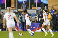 SAN JOSE, CA - DECEMBER 6: Naomi Girma #2 of the Stanford Cardinal celebrates at the final whistle during a game between UCLA and Stanford Soccer W at Avaya Stadium on December 6, 2019 in San Jose, California.