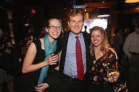 Kirstie Maciver, Brian Crist and Lisa Arnold attend the Happy Groups Launch Party at the Luxe Lounge at Lucky Strike, on May 22 in New York City.