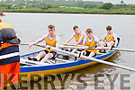 The Sive crew of Thomas Hussey, James O'mahony, Micheal Sheehan and Dylan Keating launch at the Callinafercy Regatta on Sunday